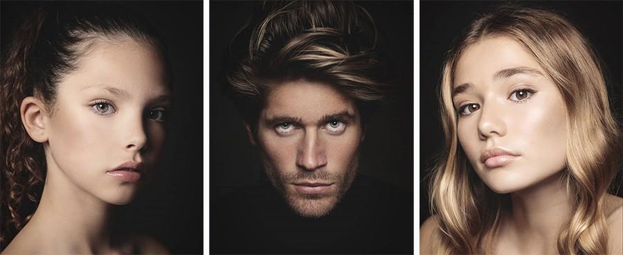 Fotografías de retratos en fondo negro en Valencia